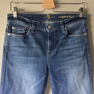 7 For All Mankind Jeans - 7 FOR ALL MANKIND Cropped Boot Jeans -Size 29